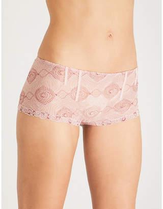 La Perla Elements stretch-lace shorty briefs