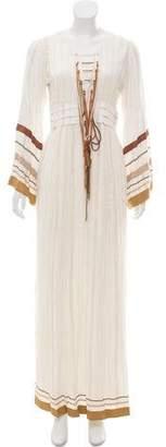 Rachel Zoe Lace-Up Maxi Dress w/ Tags