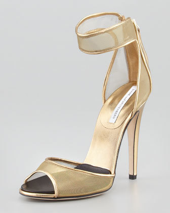 Diane von Furstenberg Rae Mesh Ankle-Cuff Sandal