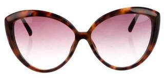 Linda Farrow Oversize Cat-Eye Sunglasses