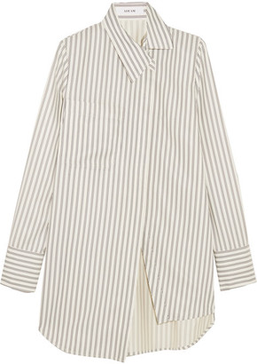 Adeam - Asymmetric Striped Twill Shirt - White