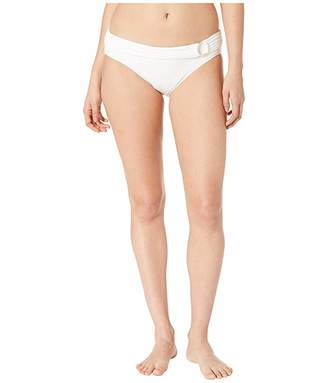 MICHAEL Michael Kors Iconic Solids Logo Ring Bikini Bottoms
