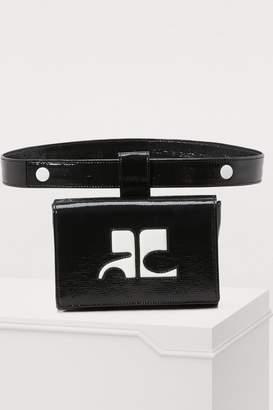 Courreges Vinyl belt bag