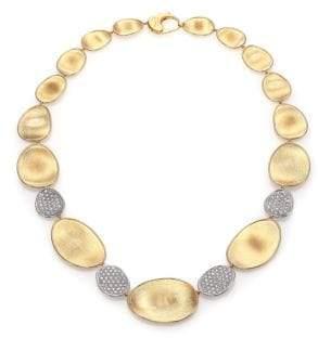 Marco Bicego Lunaria Diamond& 18K Yellow Gold Four-Station Collar Necklace