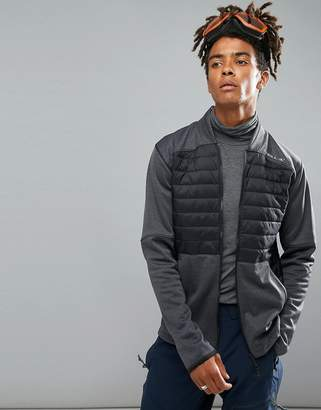 O'Neill Activewear Kinetic Quilted Sweat Jacket in Black/Gray