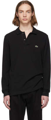 Lacoste Black Pique Classic Long Sleeve Polo