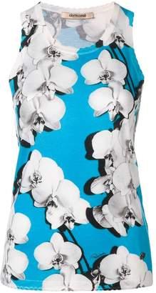 Roberto Cavalli Orchid print top