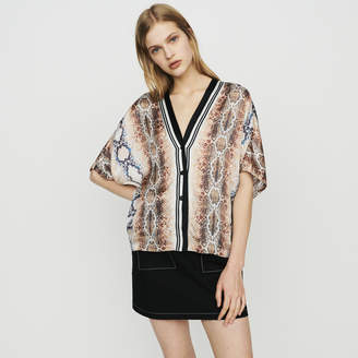 Maje Shirt with python print