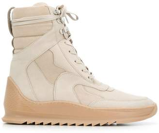 Filling Pieces fitted hi-top sneakers