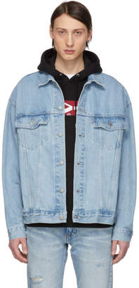 Levi's Levis Blue Baggy Trucker Jacket