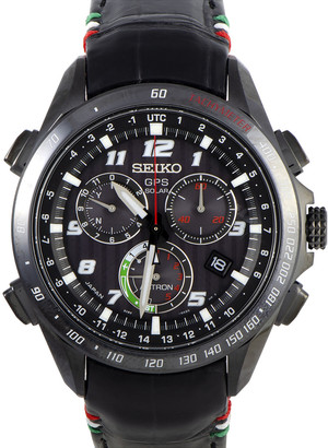 Seiko Men's Leather Watch