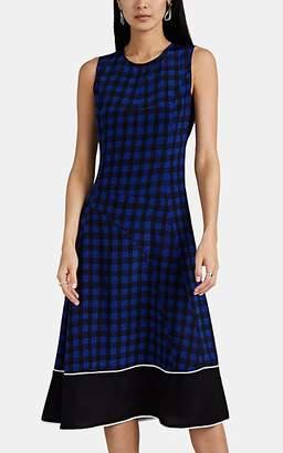 Derek Lam Women's Abstract-Gingham Silk Sleeveless Dress - Blue-Black
