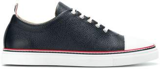 Thom Browne Straight Toe Cap Leather Trainer