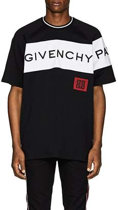 Givenchy Men's Logo-Embroidered Cotton T-Shirt