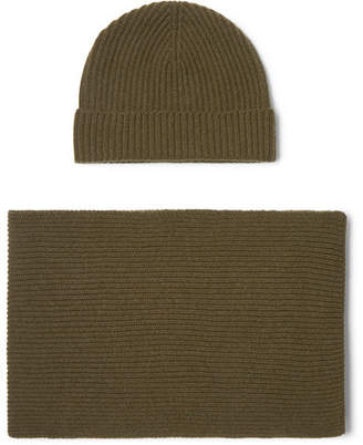 29a75735ad6 Johnstons of Elgin Ribbed Cashmere Scarf And Beanie Set