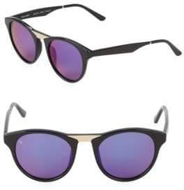 Cat Eye Black Betty 48MM Round Cat-Eye Sunglasses
