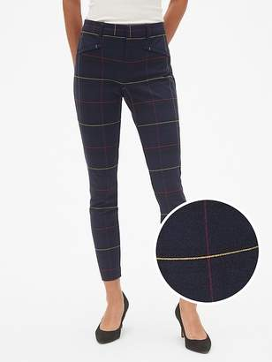 Gap Plaid Skinny Ankle Pants