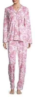 Lauren Ralph Lauren Printed Two-Piece Cotton Pyjama Set