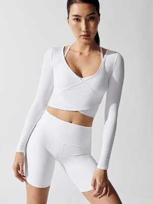 a0217409 Long Sleeve Athletic Crop Top - ShopStyle
