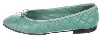 Chanel CC Quilted Flats