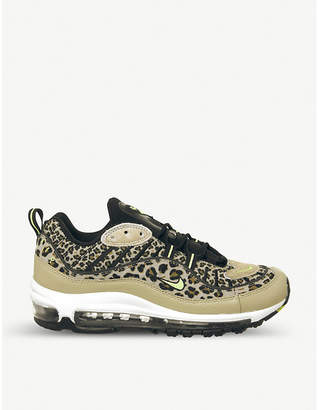Nike 98 faux-leather and mesh trainers