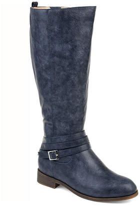 Journee Collection Womens Jc Ivie Xwc Stacked Heel Zip Riding Boots