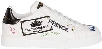 Dolce & Gabbana Logo Patch Sneakers