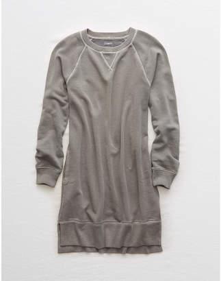 aerie Long Sleeve Fleece Dress