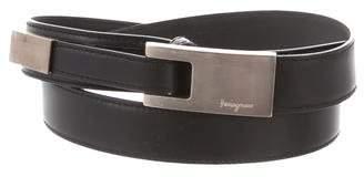 Salvatore Ferragamo Leather Logo Belt