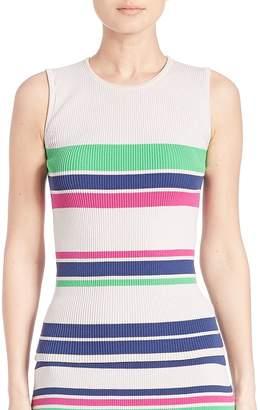 Tanya Taylor Women's Striped Rib-Knit Tank Top