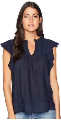 Lucky Brand Sleeveless Pintuck Top Women's Clothing