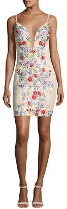 Jovani Sleeveless Backless Floral Cocktail Dress, Multicolor $495 thestylecure.com