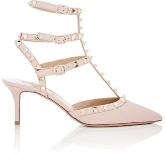 Valentino Women's Rockstud Caged Pumps-LIGHT PINK $1,075 thestylecure.com