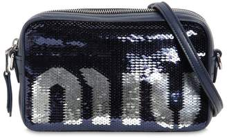 Miu Miu Sequined Logo Camera Bag