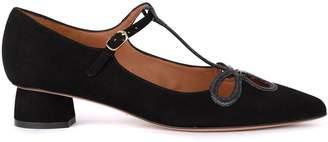 Chie Mihara (チエ ミハラ) - Chie Mihara Sera Black Suede Flat Shoe