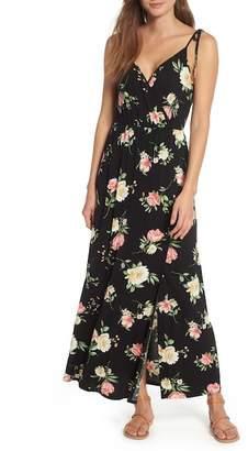 Soprano Faux Wrap Maxi Dress
