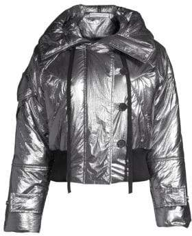 Robert Rodriguez Hooded Crop Puffer Jacket