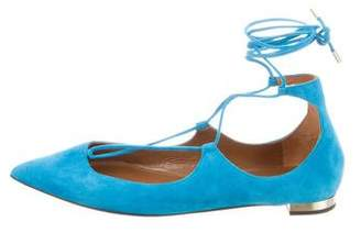 Aquazzura Christy Suede Flats