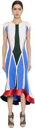Esteban Cortazar Geometric Thick Jersey Dress