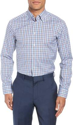 Eton Contemporary Fit Plaid Dress Shirt