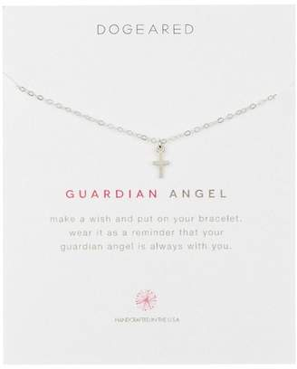 Dogeared Sterling Silver 'Guardian Angel' Cross Charm Bracelet