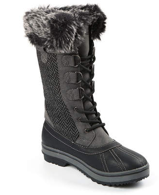 Northside Bishop Womens Lace Up Water and Slip Resistant Winter Boots