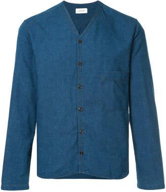 Lemaire v-neck denim shirt