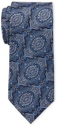 Isaac Mizrahi Blue Paisley Silk Tie