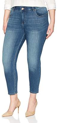 Lee Indigo Women's Plus Size Modern Collection Skinny Cropped Denim Jean