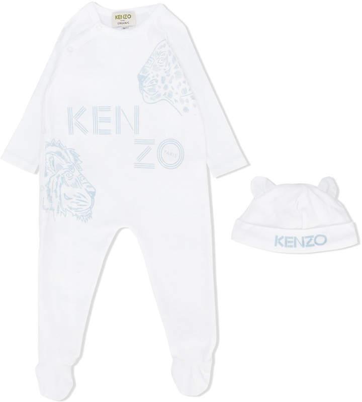 jungle logo print pajama set