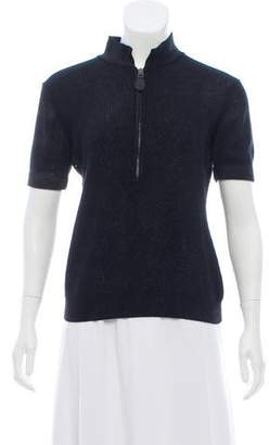Burberry Wool Short Sleeve Sweater