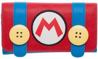 Bioworld Nintendo Mario Suit Juniors Flap Wallet Clutch Purse