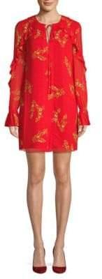Derek Lam 10 Crosby Pleated Floral Shirtdress