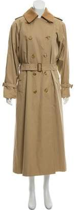 Burberry Wool-Accented Double-Breasted Trench Coat